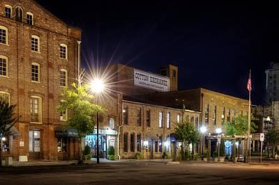 Wilmington Cotton Exchange At Night Poster