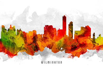 Wilmington Delaware Cityscape 15 Poster by Aged Pixel