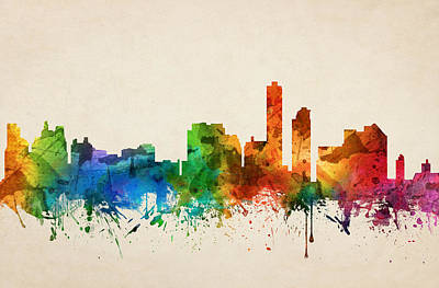 Wilmington Delaware Skyline 05 Poster by Aged Pixel