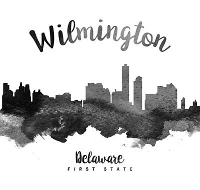 Wilmington Delaware Skyline 18 Poster by Aged Pixel