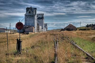 Wilsall Grain Elevators Poster