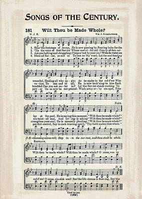Wilt Thou Be Made Whole 1900 Poster