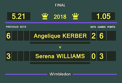 Wimbledon Scoreboard - Customizable - 2017 Muguruza Poster