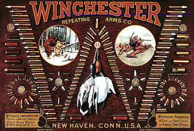 Winchester W Cartridge Board Poster