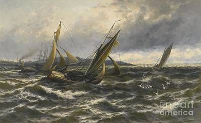 Wind And Sea Rising Off The Isle Of Sheppey Poster