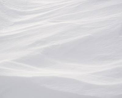 Wind Carved Snow Poster