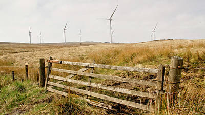Wind Farm On Miller's Moss. Poster