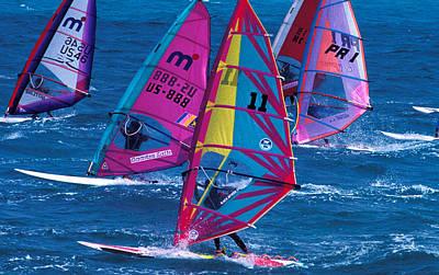 Wind Surfers In Nassau Poster