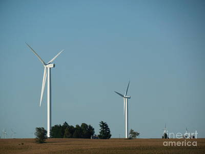 Wind Turbine Farm Poster by Bob Schmidt
