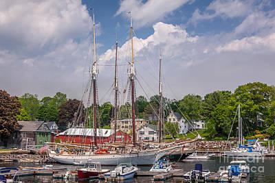 Windjammers In Camden Harbor Poster
