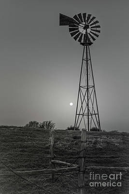 Poster featuring the photograph Windmill At Dawn by Robert Frederick