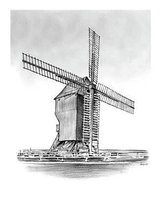 Windmill At Valmy Poster by Greg Joens