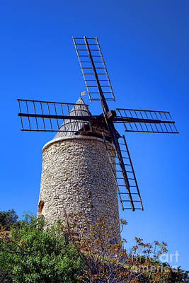 Windmill In Provence Poster by Olivier Le Queinec