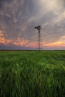Poster featuring the photograph Windmill Mammatus by Aaron J Groen