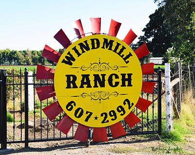 Windmill Ranch Poster by Barbara Snyder