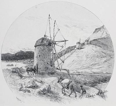 Windmills, Ithaca, Ionian Islands Poster