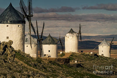 Poster featuring the photograph Windmills Of La Mancha by Heiko Koehrer-Wagner