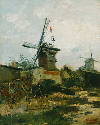 Windmills On Montmartre Poster by Vincent van Gogh