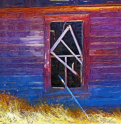 Poster featuring the photograph Window-1 by Susan Kinney