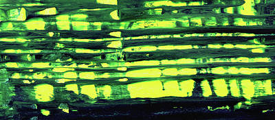 Window - Green And Yellow Abstract Painting Poster by Modern Art Prints