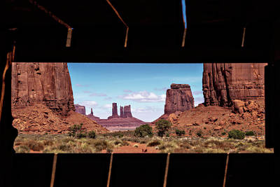 Poster featuring the photograph Window Into Monument Valley by Eduard Moldoveanu