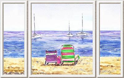 Window Of The Beach House Poster by Irina Sztukowski