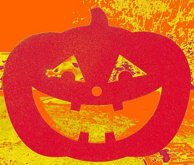Window Pumpkin #4 Poster