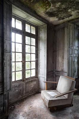 Window Seat - Abandoned Building Poster by Dirk Ercken
