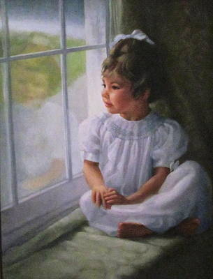 Window Seat Poster by Janet McGrath