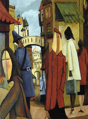 Poster featuring the painting Window Shopping by Glenn Quist