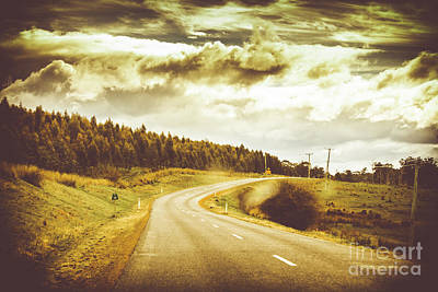 Window To A Rural Road Poster by Jorgo Photography - Wall Art Gallery