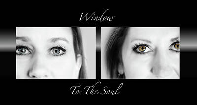 Window To The Soul Poster by Steven  Michael