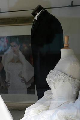 Window Wedding Attire Poster