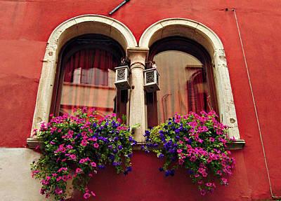 Windows In Venice Poster