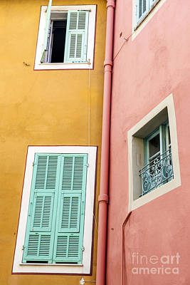 Windows In Villefranche-sur-mer Poster by Elena Elisseeva