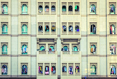 Windows Of Bur Dubai Poster by Alexey Stiop