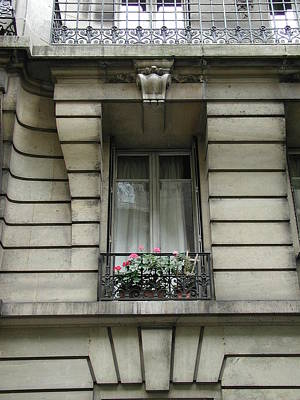 Poster featuring the photograph Windows Of Paris by Nancy Taylor