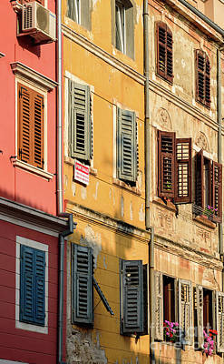 Windows Of Rovinj, Istria, Croatia Poster