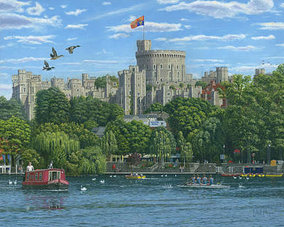 Windsor Castle From The River Thames Poster by Richard Harpum