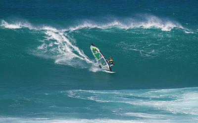 Windsurfer At Hookipa, Maui Poster