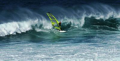 Windsurfing Maui Hawaii 2 Poster by Bob Christopher