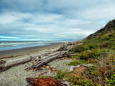 Windy Beach In Oregon Poster