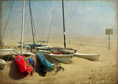Windy Day At The Beach Poster by Carolyn Derstine