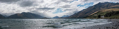Poster featuring the photograph Windy Day On Lake Wakatipu by Gary Eason