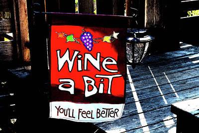 Wine A Bit Poster by Anne Mott