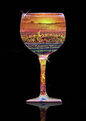Wine Abstract Poster