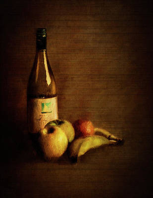 Wine And Fruit Poster