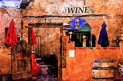Wine Bar Of The Southwest Poster by Barbara Chichester