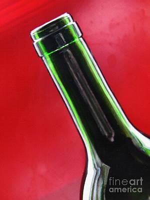 Wine Bottles 8 Poster by Sarah Loft