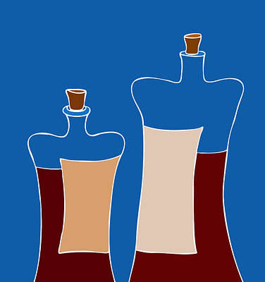Wine Bottles Poster by Frank Tschakert
